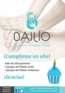 Fisioterapia Bailío - Primer aniversario